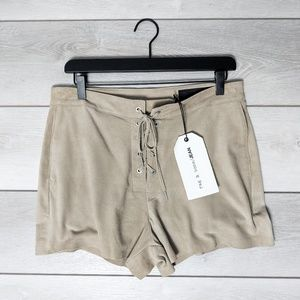 Rag&Bone Lace Up Short Stone Suede Size 30 NWT